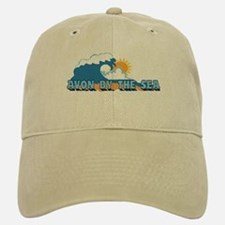 Avon NJ - Waves Design Baseball Baseball Cap