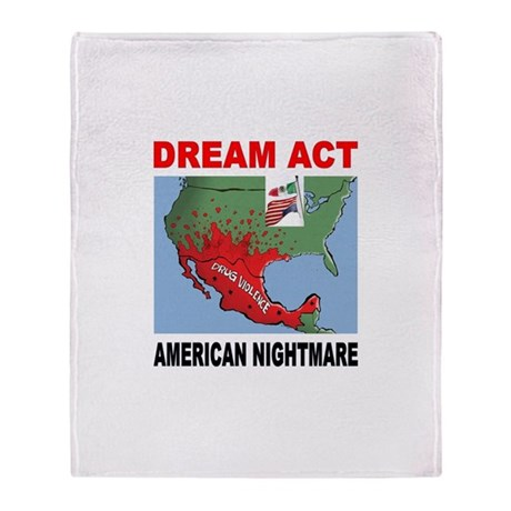 AMERICA'S NIGHTMARE Throw Blanket