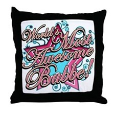 Worlds Best Bubbe Throw Pillow