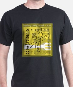 Dietitians and Nutrition Prof Black T-Shirt