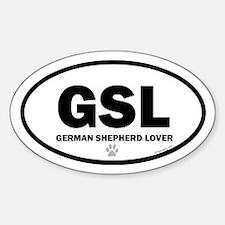 German Shepherd Lover Euro Decal