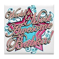 Worlds Best Babka Tile Coaster