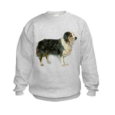 Aspen, Austrailian Shepherd Kids Sweatshirt