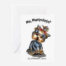 Yorkie Manipulate Greeting Card