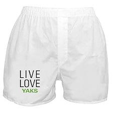 Live Love Yaks Boxer Shorts