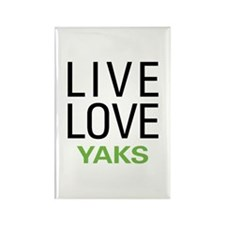 Live Love Yaks Rectangle Magnet