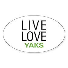 Live Love Yaks Decal