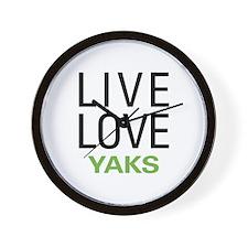 Live Love Yaks Wall Clock