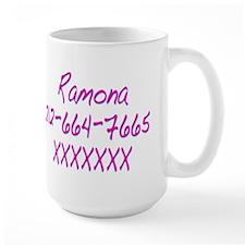 Ramona's Telephone Number SPvTW Mug