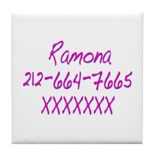 Ramona's Telephone Number SPvTW Tile Coaster