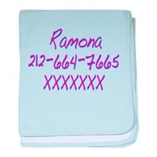 Ramona's Telephone Number SPvTW baby blanket