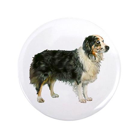 "Austrailian Shepherd Cool Stu 3.5"" Button"