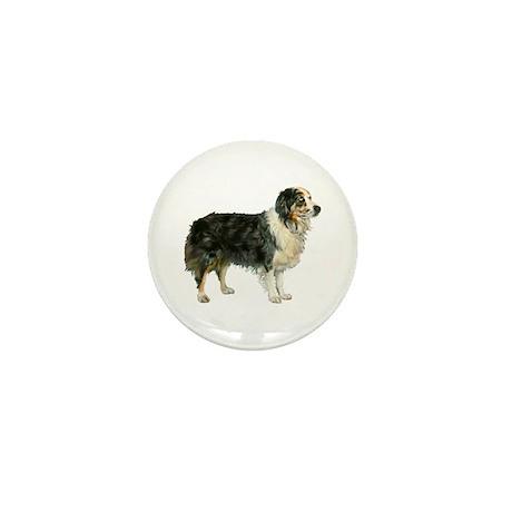 Austrailian Shepherd Cool Stu Mini Button (10 pack