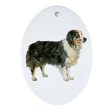 Austrailian Shepherd Cool Stu Ornament (Oval)