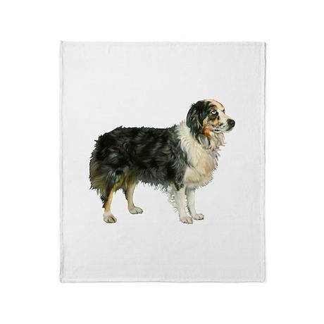 Austrailian Shepherd Cool Stu Throw Blanket
