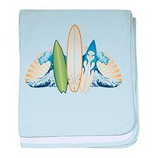 Surfboards baby blanket