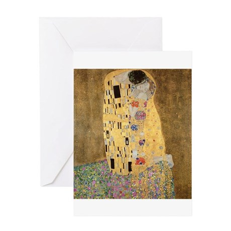 The Kiss by Gustav Klimt Greeting Cards