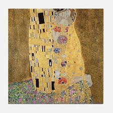 Cute Klimt the kiss Tile Coaster