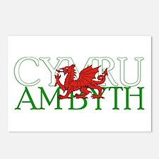 Cymru Am Byth Postcards (Package of 8)