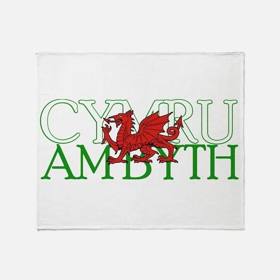 Cymru Am Byth Throw Blanket