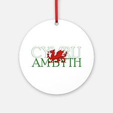 Cymru Am Byth Ornament (Round)