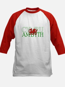 Cymru Am Byth Kids Baseball Jersey