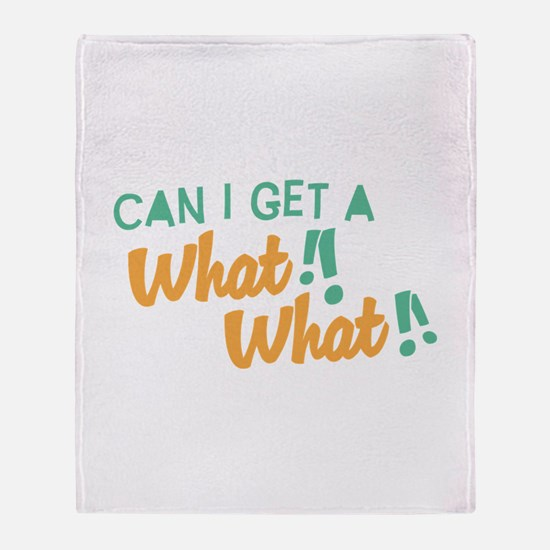 A What What Throw Blanket