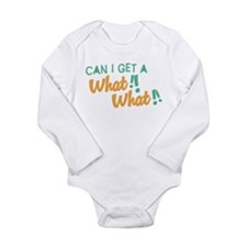 A What What Long Sleeve Infant Bodysuit