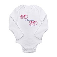 Twenty is the New Forty Long Sleeve Infant Bodysui