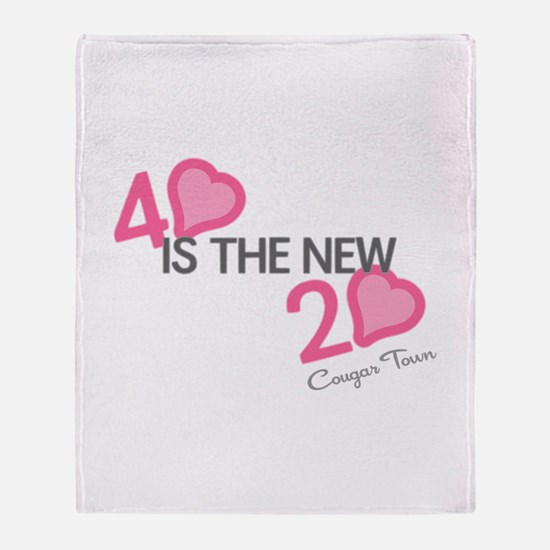 Heart 40 is the New 20 Throw Blanket