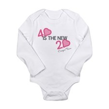 Heart 40 is the New 20 Long Sleeve Infant Bodysuit