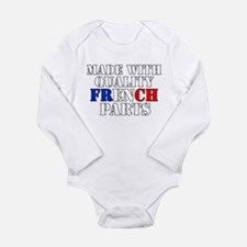 Quality French Parts Long Sleeve Infant Bodysuit
