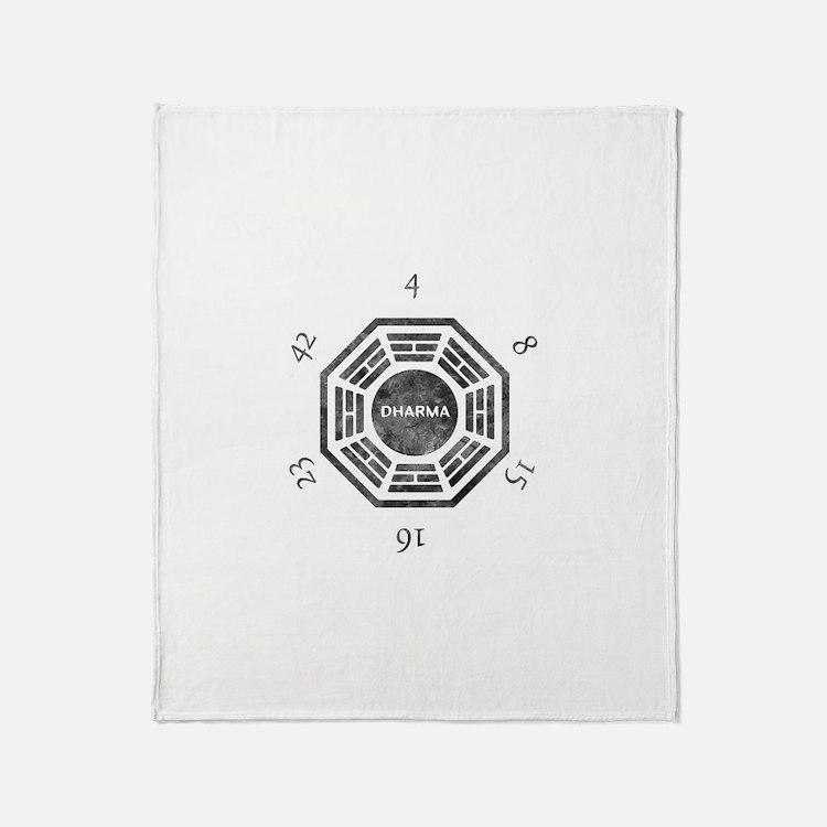Cute Dharma initiative Throw Blanket