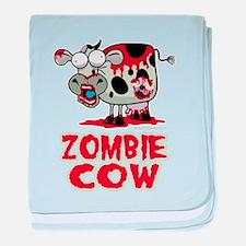 Zombie Cow baby blanket