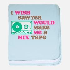 Sawyer Mix Tape baby blanket