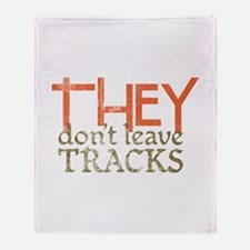 THEY Don't Leave Tracks Throw Blanket