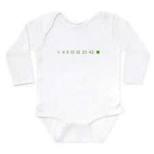 4 8 15 16 23 42 Long Sleeve Infant Bodysuit