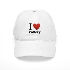 I Love Pottery Baseball Cap