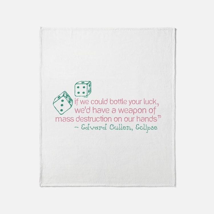 Bottle Your Luck Throw Blanket
