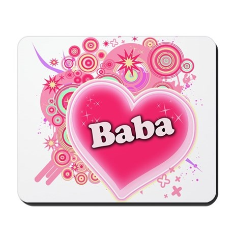 Baba Heart Art Mousepad