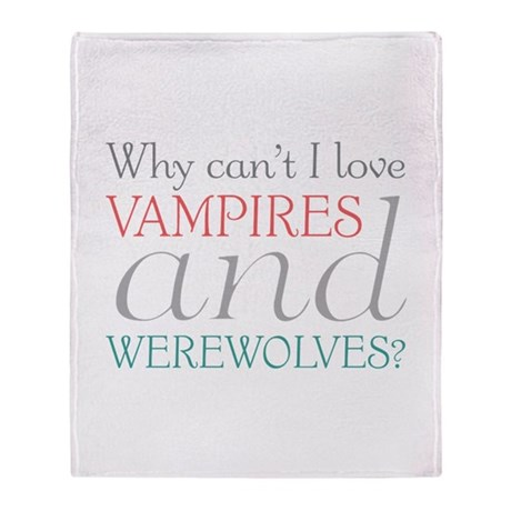 Vampires and Werewolves Throw Blanket