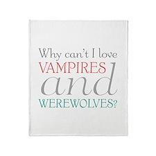 Vampires and Werewolves Throw Blanket