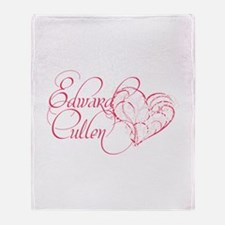 Edward Cullen Heart Throw Blanket
