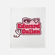 Eye Heart Edward Cullen Throw Blanket