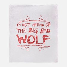 Big Bad Wolf Throw Blanket