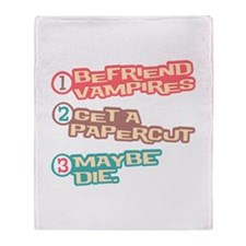 New Moon Papercut Throw Blanket