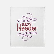 Easy Bleeder Throw Blanket