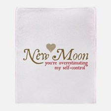 New Moon Self Control Throw Blanket
