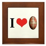 I *heart* pysanka Framed Tile