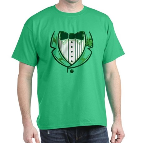 St Patricks Day Tux Dark T-Shirt